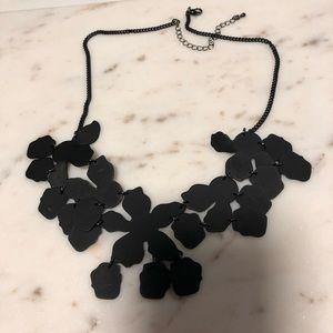 Black Flat Statement Necklace